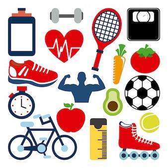 Fitness- und sportdesign