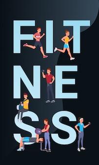 Fitness vertikale poster