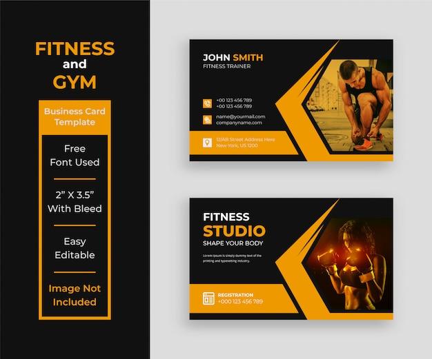Fitness-visitenkartenschablone