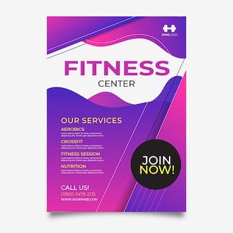 Fitnesscenter im sportplakatstil