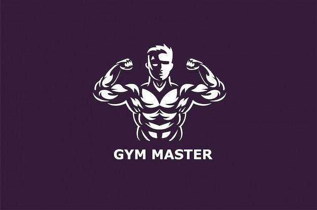 Fitnesscenter und logos für sportgymnastik