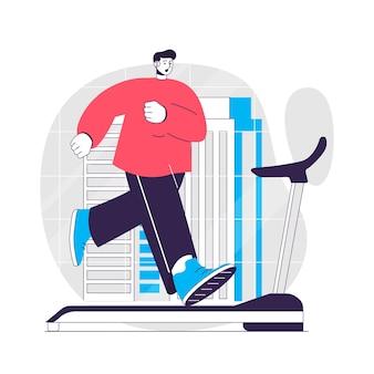 Fitnesskonzept illustration