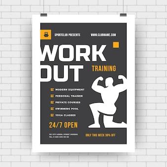 Fitnessplakat für sportereignisturnier