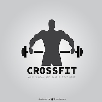 Fitnessraum vektor logo