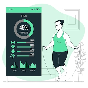Fitnessstatistik-konzeptillustration