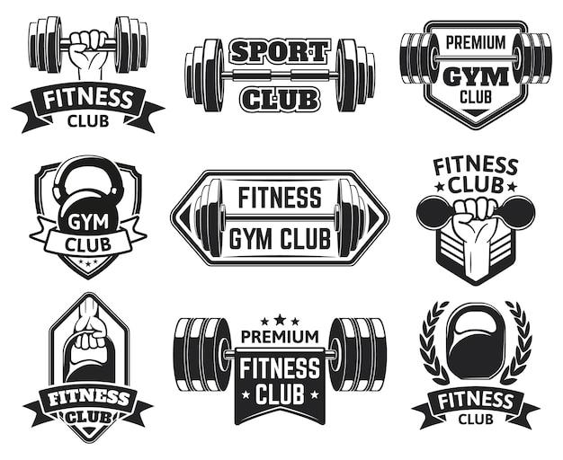 Fitnessstudio-etiketten