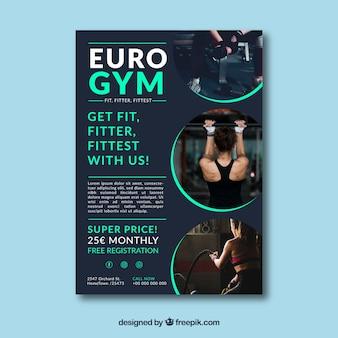 Fitnessstudio flyer vorlage
