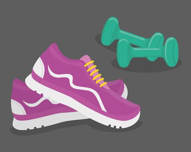 Fitnessstudio und fitness design