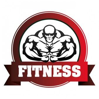 Fitnessstudio und Fitness-Icons Design