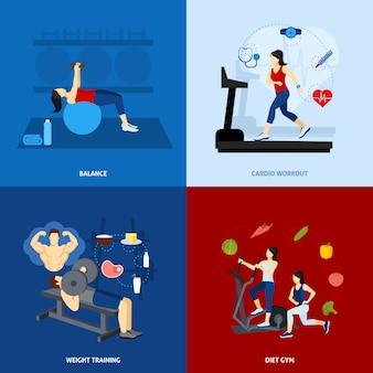 Fitnessstudio workout menschen