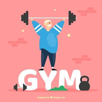 Fitnessstudio wort konzept