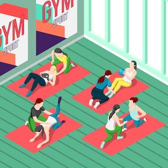 Fitnesstrainer isometric