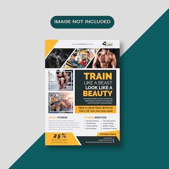 Fitnesstraining flyer vorlage