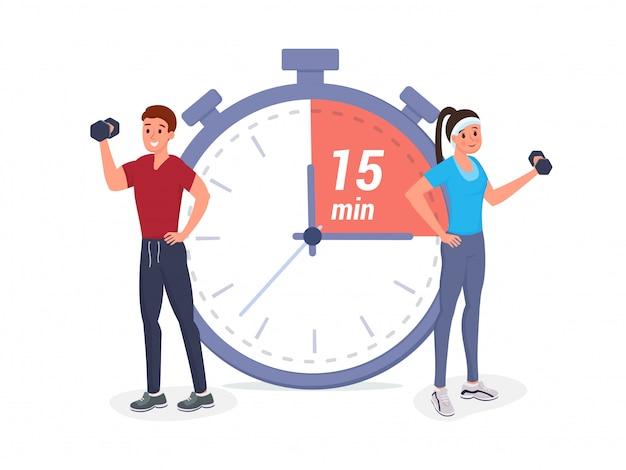 Fitnesszeit flach