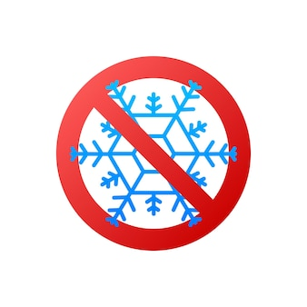 Flach keine schneeflocken. flache vektorillustration. weißer hintergrund.