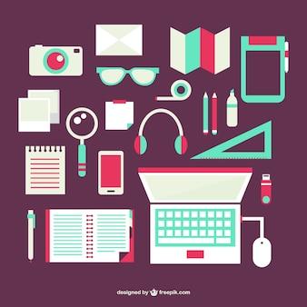 Flach office-objekte set