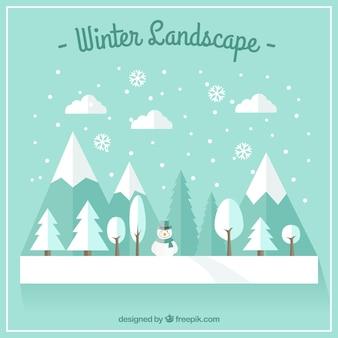 Flach winterlandschaft