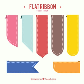 Flachbänder mit verschiedenen Farben