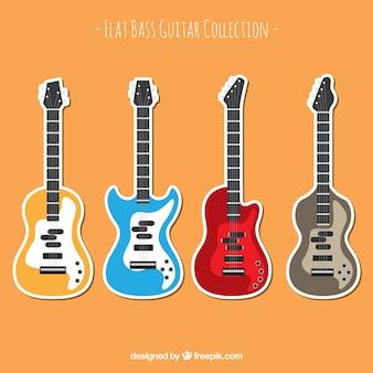 Flachbass gitarren-kollektion