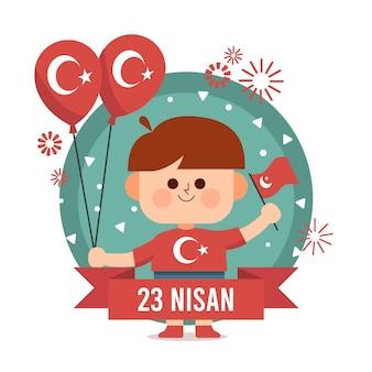 Flache 23 nisan illustration