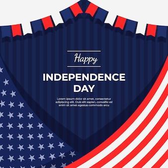 Flache 4. juli unabhängigkeitstag illustration