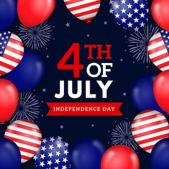 Flache 4. juli - unabhängigkeitstag illustration