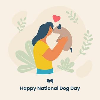 Flache abbildung des nationalen hundetages