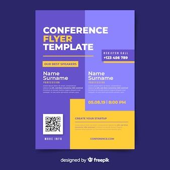 Flache abstrakte business konferenz flyer vorlage