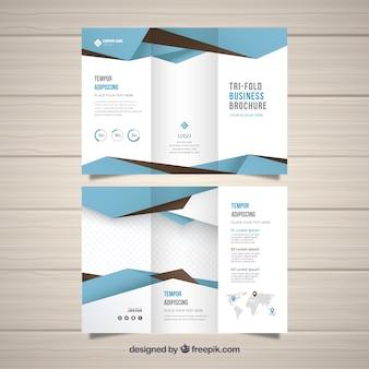 Flache abstrakte dreifachgefaltete broschüre