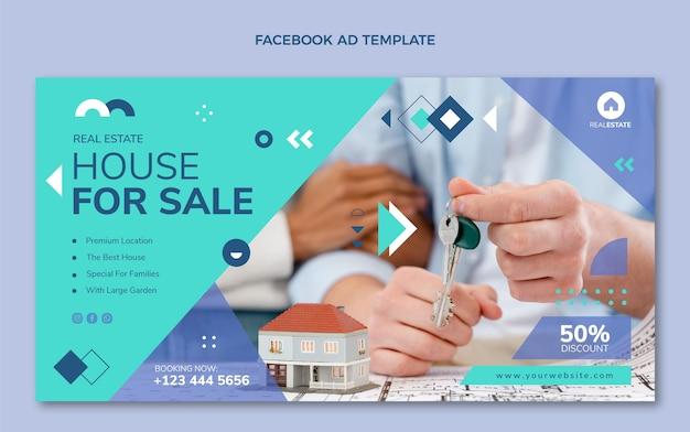 Flache abstrakte geometrische immobilien facebook