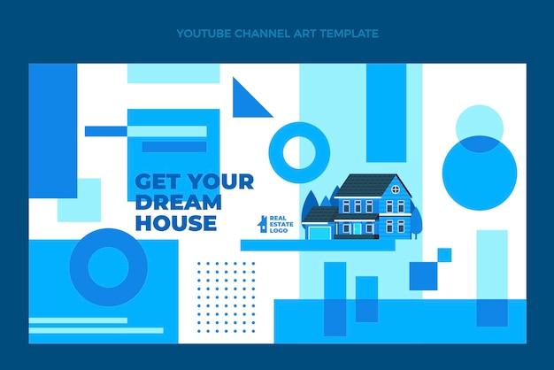 Flache abstrakte geometrische immobilien-youtube-kanal