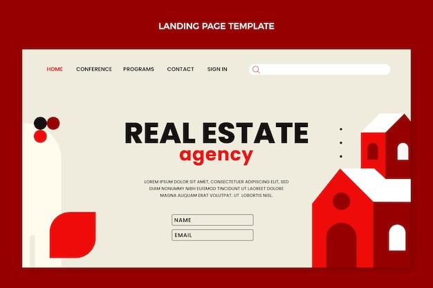 Flache abstrakte immobilien-landingpage