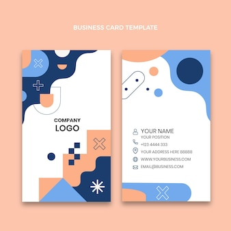 Flache abstrakte immobilien vertikale visitenkarte