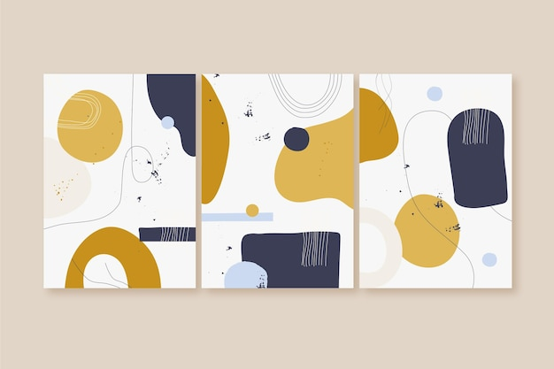 Flache abstrakte kunstabdeckungssammlung