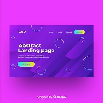 Flache abstrakte landingpage-vorlage