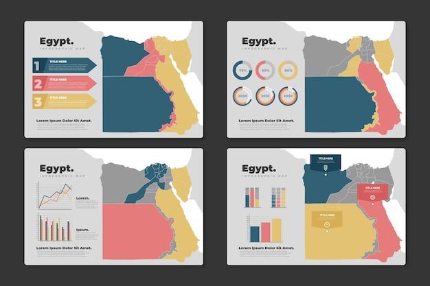 Flache ägypten karte infografik
