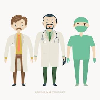 Flache ärzte und chirurg