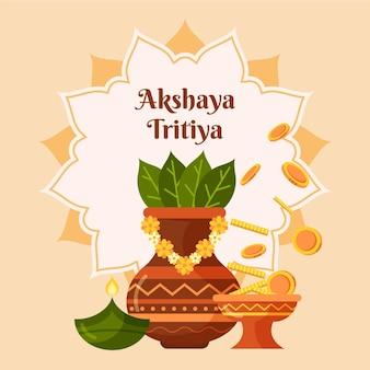 Flache akshaya tritiya illustration