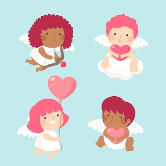 Flache amor charakter sammlung