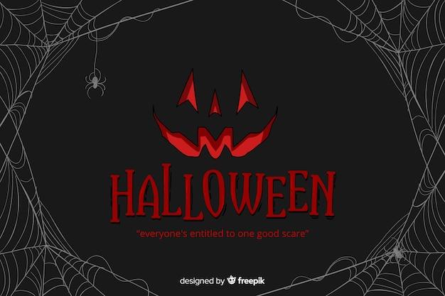 Flache art dekorativen halloween-hintergrundes