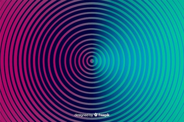 Flache art des hintergrundes der optischen täuschung