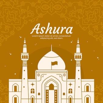 Flache ashura-abbildung