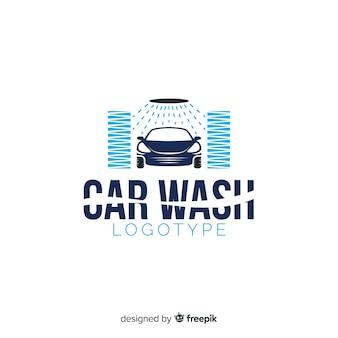 Flache autowäsche logo hintergrund