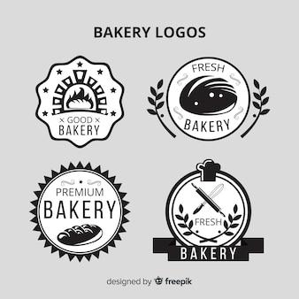 Flache bäckerei logos