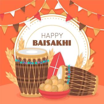 Flache baisakhi-illustration