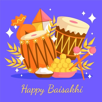 Flache baisakhi-illustration