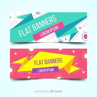 Flache banner