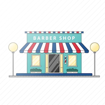 Flache barber shop illustration
