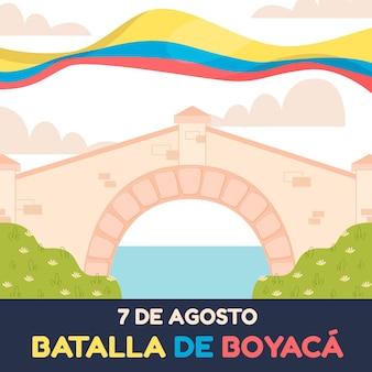 Flache batalla de boyaca-illustration