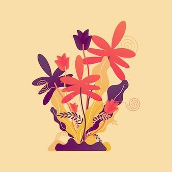 Flache blatt-illustration